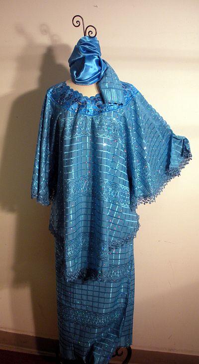 Millionstone African Inspired Ladies 3pc Skirt Set French