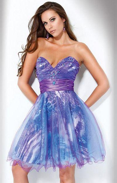 Jovani Beyond Purple Leopard Print Short Prom Dress B174