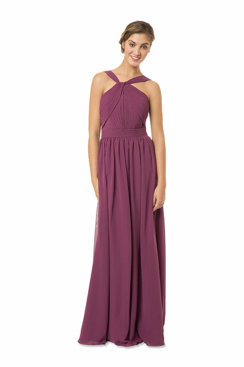 Bari Jay BC-1566 High Neck Long Chiffon Bridesmaid Dress: French Novelty