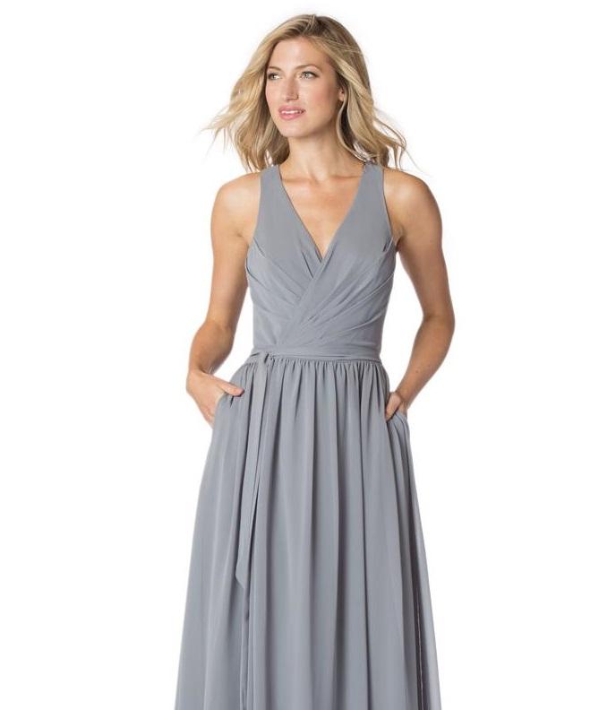 Bari Jay Bc 1605 S Wrap Short Bridesmaid Dress French Novelty