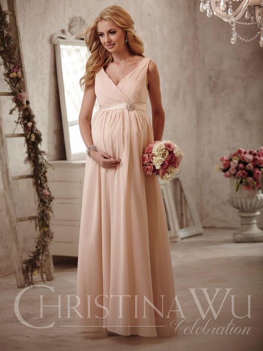 Christina Wu Celebration BM40M Maternity Bridesmaid Dress: French ...
