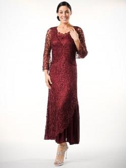 a4619c0f202 Soulmates C5109 Crochet Lace MOB Jacket Dress