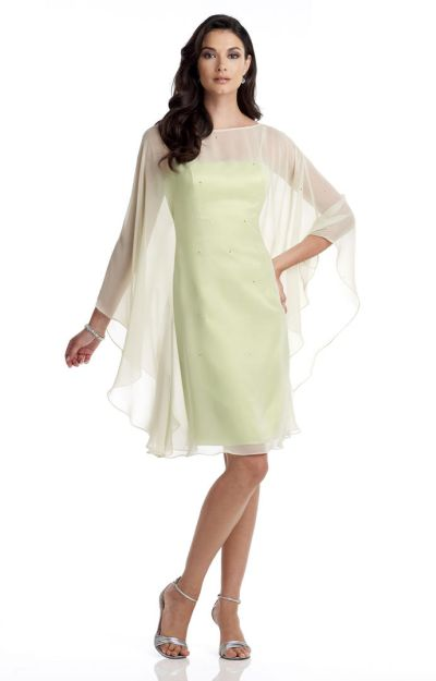 Capri Cp11357 Mother Of The Bride Cocktail Dress With Cape