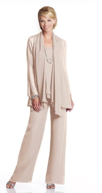 cdf4b7067c59 Capri CP11469 Mother of the Bride Pant Suit: French Novelty