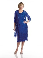 Capri by Mon Cheri CP21489 Silk Burnout Dress image