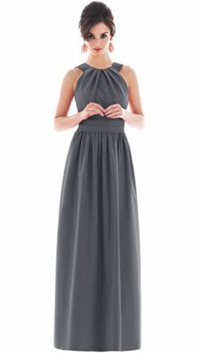 Alfred Sung Long Bridesmaid Dress with Pockets D495 by Dessy ...