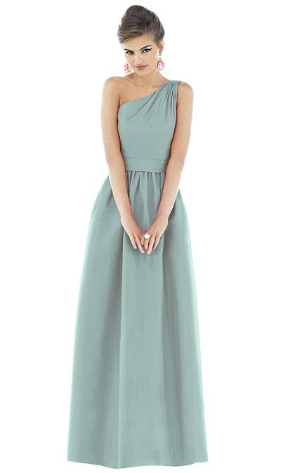 Alfred Sung One Shoulder Long Bridesmaid Dress D531 by ...