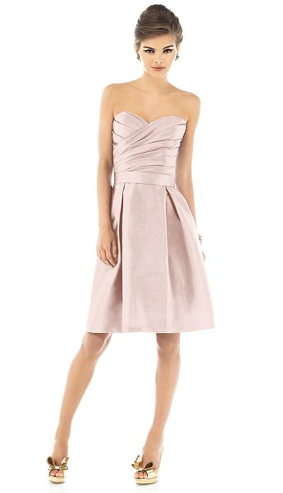 Alfred Sung Short Bridesmaid Dress with Pockets D536 by Dessy ...