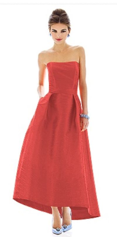 Alfred Sung D583 Peau De Soie Bridesmaid Dress French Novelty