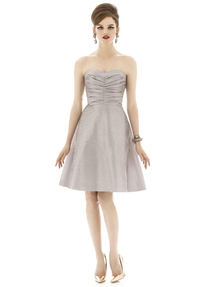 alfred sung d630 framed neckline short bridesmaid dress french novelty. Black Bedroom Furniture Sets. Home Design Ideas