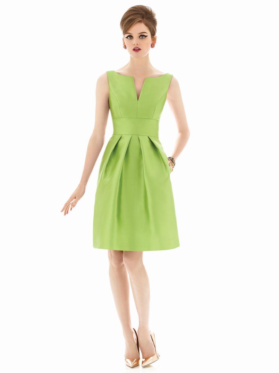 dessy alfred sung d654 short bridesmaid dress french novelty. Black Bedroom Furniture Sets. Home Design Ideas
