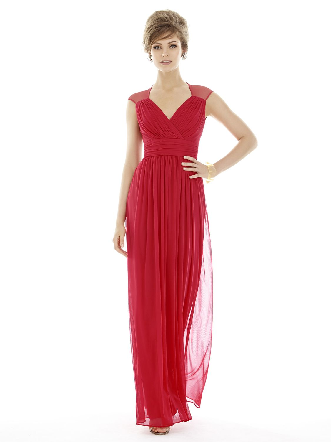 alfred sung d693 draped chiffon knit bridesmaid gown french novelty. Black Bedroom Furniture Sets. Home Design Ideas