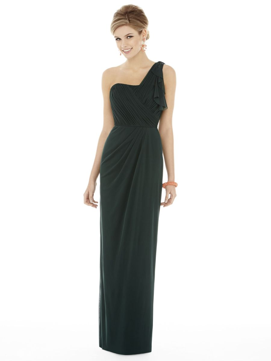 alfred sung d704 one shoulder bridesmaid gown french novelty. Black Bedroom Furniture Sets. Home Design Ideas