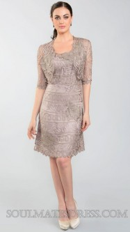 cf33f35b35 Soulmates D7186 Elbow Sleeve Cocktail Dress