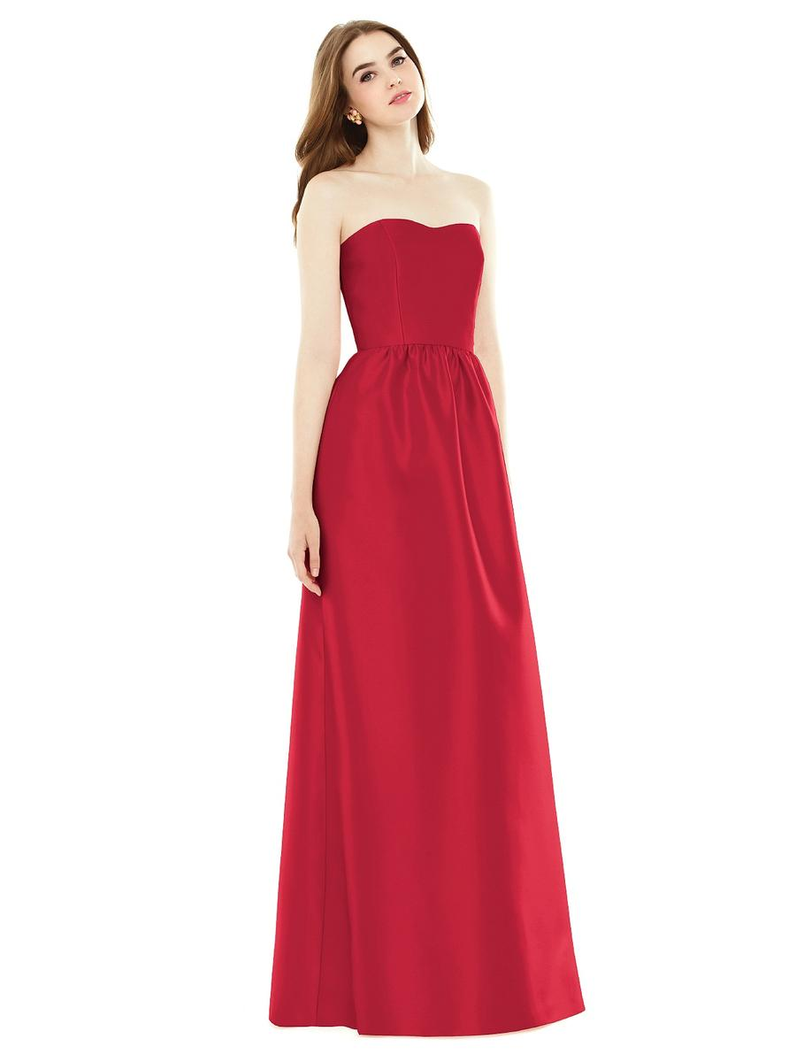 alfred sung d724 sateen twill bridesmaid gown french novelty. Black Bedroom Furniture Sets. Home Design Ideas