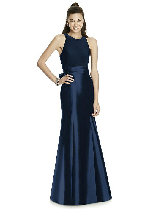 Alfred Sung D737 Jersey and Mikado Bridesmaid Dress: French Novelty