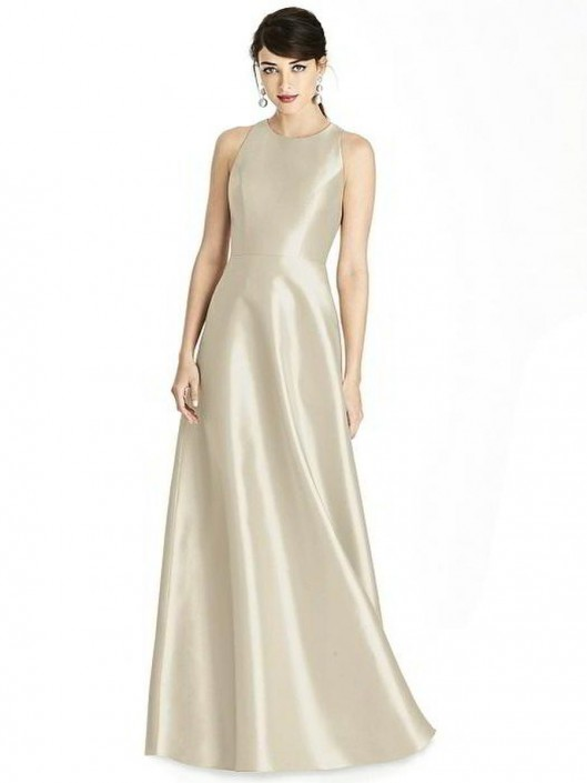 814372356a0cb Alfred Sung D746 Diamond Cutout Back Bridesmaid Dress: French Novelty
