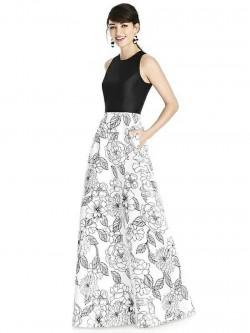 8aa4bae71be Alfred Sung D746CP Print Skirt Bridesmaid Dress