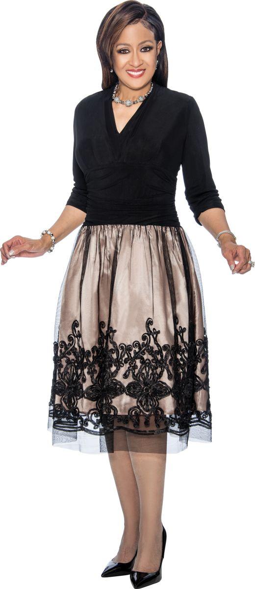 Dorinda Clark Cole Dcc1421 Designer Church Dress French