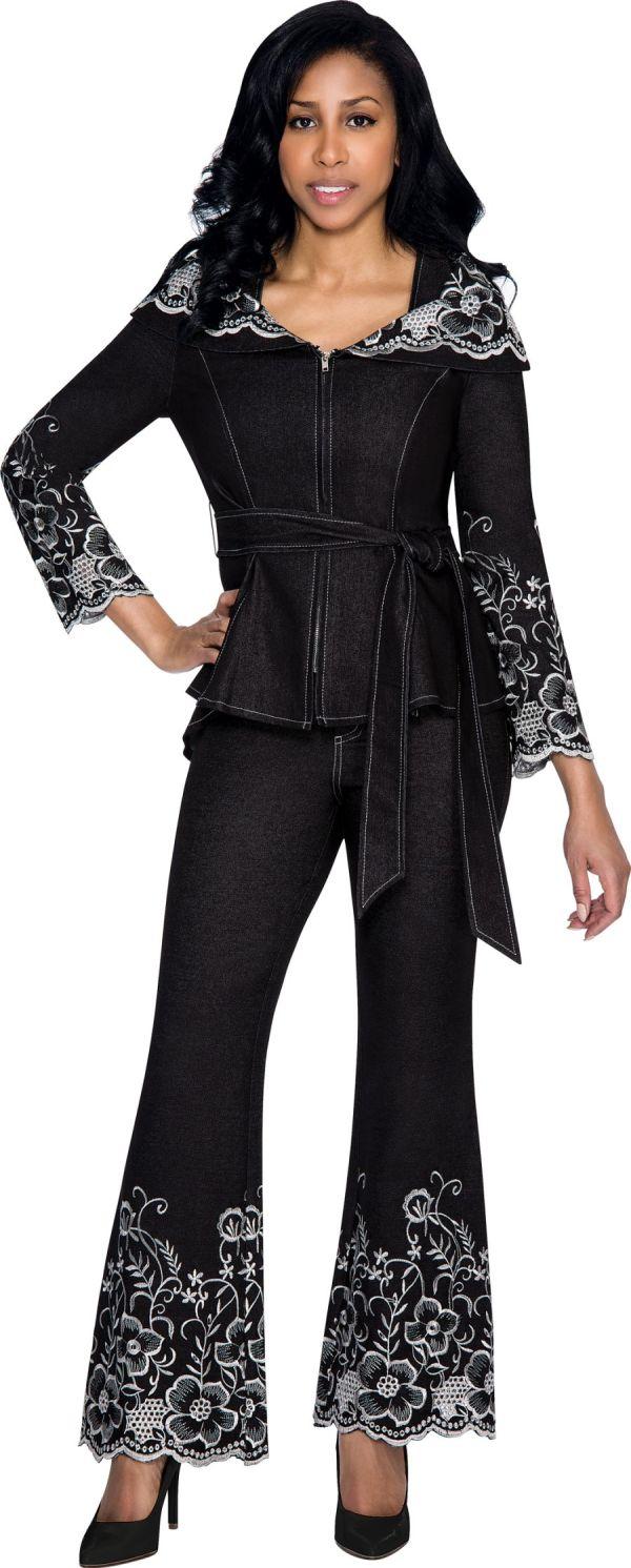 Devine Sport Ds51202 Womens Denim Pant Suit French Novelty