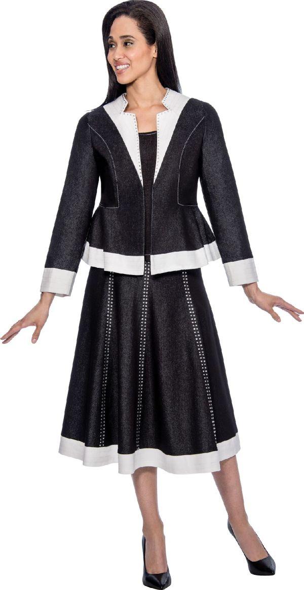 Devine Sport Ds51663 Denim Womens Church Suit French Novelty