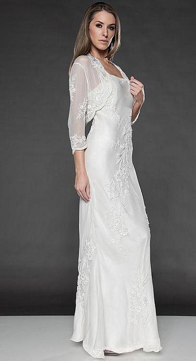Destination wedding dresses scala long jacket dress 877 for Wedding dress for destination wedding