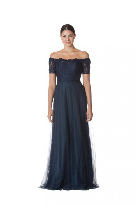 Bari Jay EN-1752-M Lace Off Shoulder Maternity Bridesmaid Dress ...