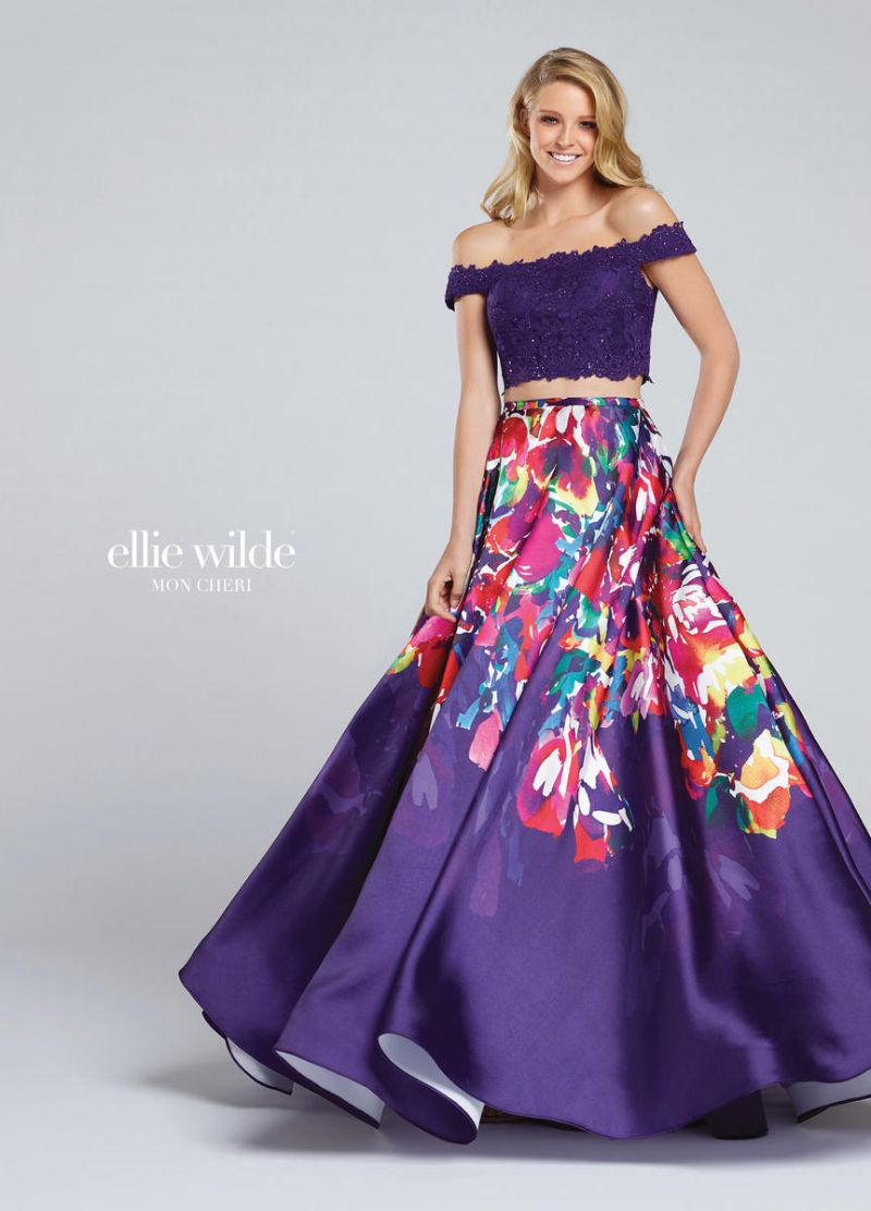 Ellie Wilde for Mon Cheri EW117001 Off Shoulder 2pc Prom Dress ...