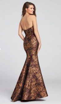 What to wear with brown evening dress