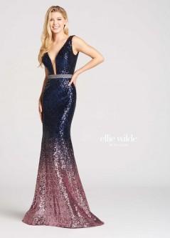 270f79b62eff Ellie Wilde for Mon Cheri EW118047 Ombre Sequin Gown