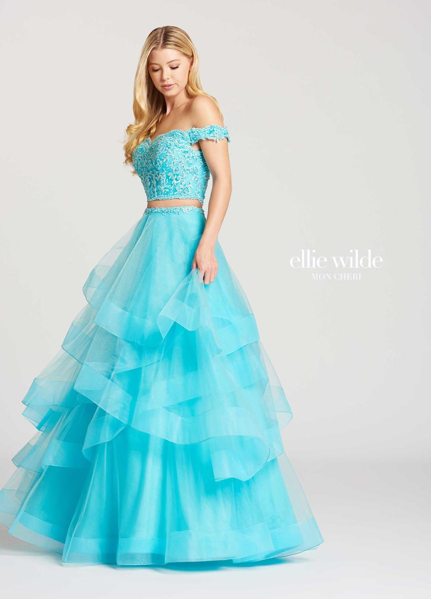 Ellie Wilde For Mon Cheri Ew118095 Tiered 2pc Gown French