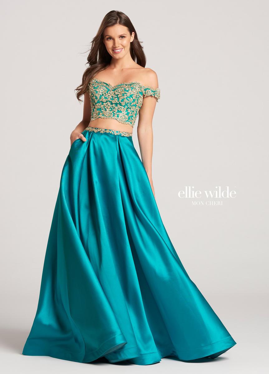 Ellie Wilde For Mon Cheri Ew118122 Off Shoulder 2pc Gown