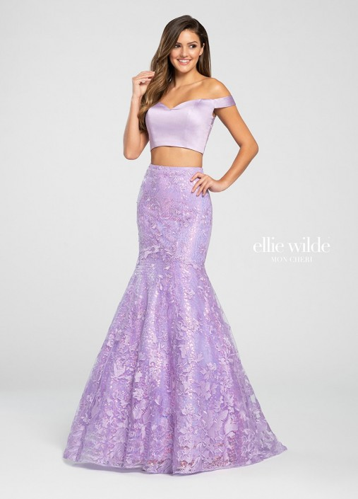 be5be52fc8 Ellie Wilde EW119006 Two Piece Mermaid Dress  French Novelty