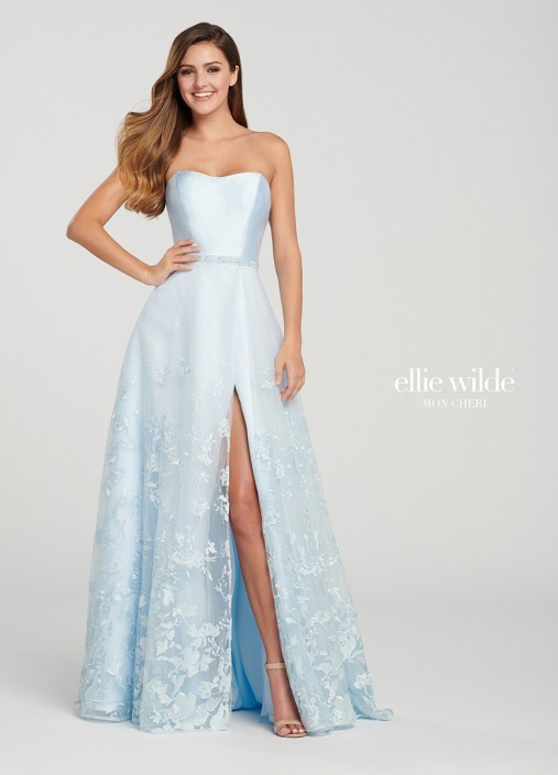 7605d76a008 Ellie Wilde EW119007 Embroidered Prom Dress  French Novelty
