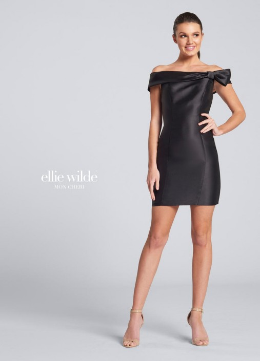 3422902843f7 Ellie Wilde EW21708S Off Shoulder Designer Cocktail Dress  French Novelty