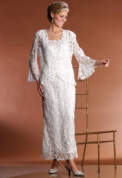 Soulmates Silk Embroidered 3pc Evening Jacket Dress Set