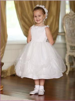Tip Top Flower Girl Dress 5194: French Novelty