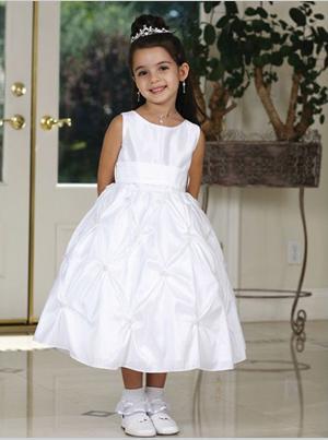 Size 4 Tip Top White Flower Girl Dress 5319: French Novelty