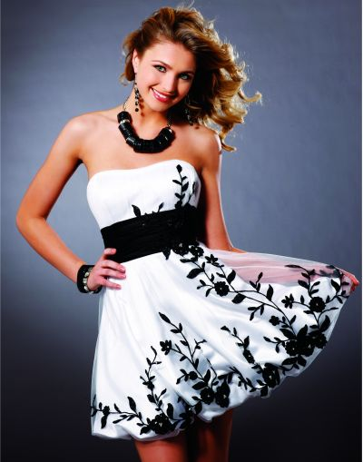 Homecoming Bubble Dresses Blush Prom Short Party Dress 9140 image