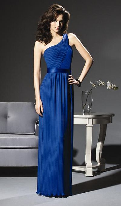 135e7529858 Pleated One Shoulder Dessy Collection Bridesmaid Dress 2806: French Novelty