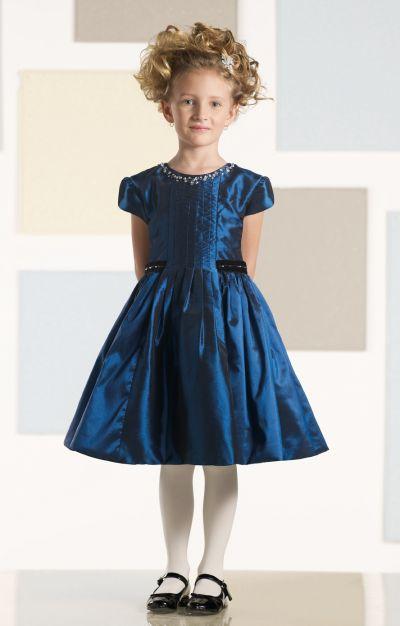 Joan Calabrese For Mon Cheri Little Girls Taffeta Dress