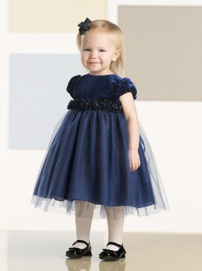 Joan Calabrese for Mon Cheri Navy Blue Baby Girls Dress ...