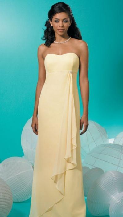9d38a5813b Strapless Empire Chiffon Long Jordan Bridesmaid Dress 230  French Novelty