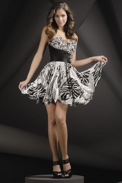 Zebra Party Dresses 94
