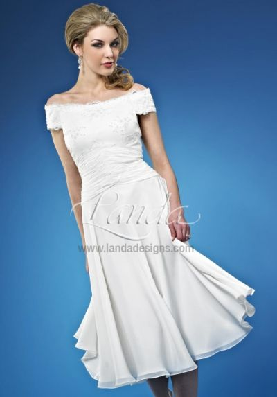 informal wedding short destination bridal dress db216 by landa