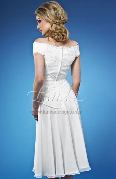informal wedding short destination bridal dress db216 by landa french