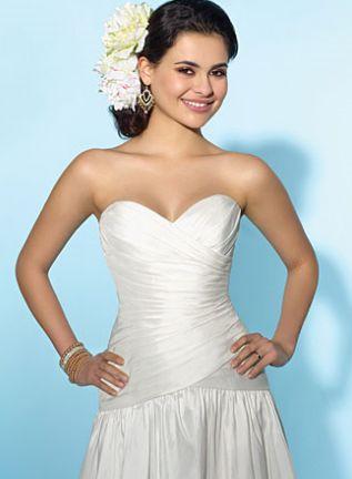 ALFRED ANGELO LITTLE WHITE DRESS SHORT DESTINATION WEDDING DRESS 2153