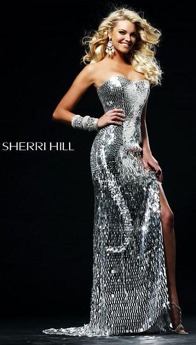 Striking Fully Sequin Sherri Hill Long Evening Dress 2270 image