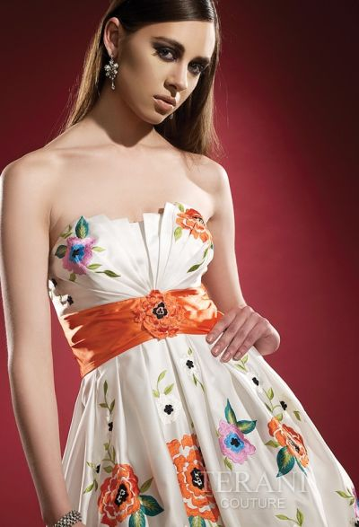 wedding dresses with colored embroidery. Color: Ivory/Multi
