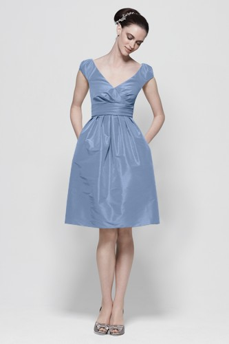 Size 12 Cap Sleeve Short Watters Maids Bridesmaid Dress 7122: French ...